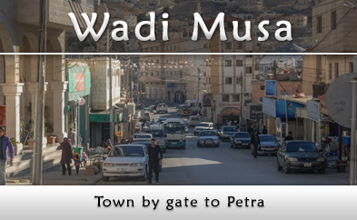 Wadi Musa, the town near Petra and for the way to Mount Tor